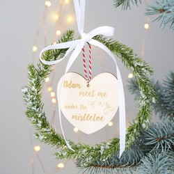 Personalised Fir Wreath Hanging Decoration
