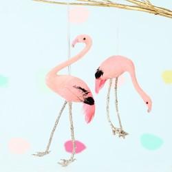 Set of 2 Flamingo Hanging Decorations