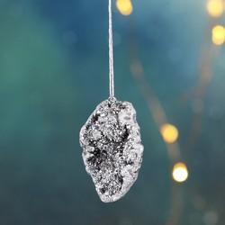 Silver Aura Quartz Rock Hanging Decoration