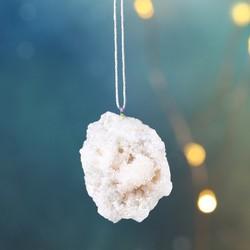 White Aura Quartz Rock Hanging Decoration