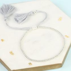 Dainty Links Bracelet in Grey & Silver
