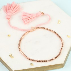 Dainty Links Bracelet in Pink and Rose Gold