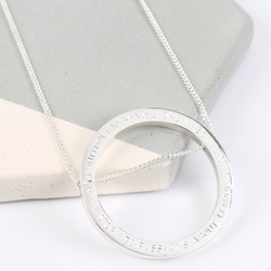 Personalised Longline Large Circle Pendant Necklace