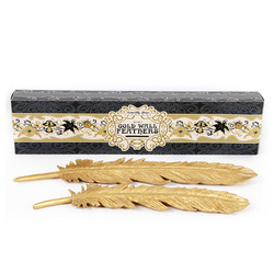 Temerity Jones Set of 2 Gold Wall Feathers