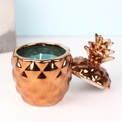 Temerity Jones Copper Pineapple Candle