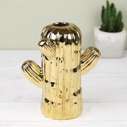 Temerity Jones Gold Cactus Vase