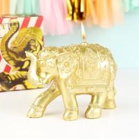 Temerity Jones Gold Elephant Candle