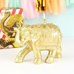 Temerity Jones Gold Elephant Candle