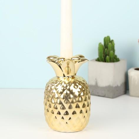 Temerity Jones Gold Pineapple Candlestick Holder