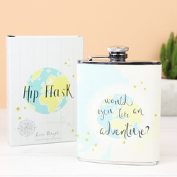 'Adventure' Globe Hip Flask
