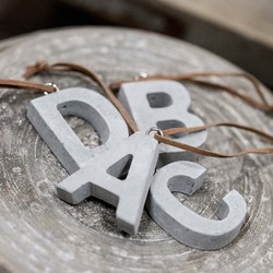 Concrete Letter Hanging Decoration