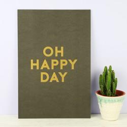 Tutti & Co 'Oh Happy Day' A4 Print