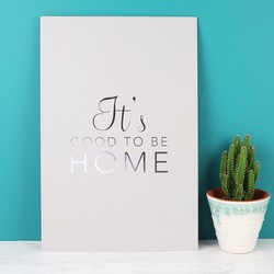 Tutti & Co 'It's Good to Be Home' A4 Print