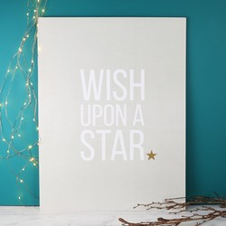 Tutti & Co Large 'Wish Upon a Star' Print