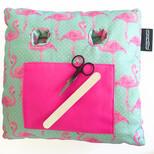 Flamingo Print Coz-e-Nailbar Cushion