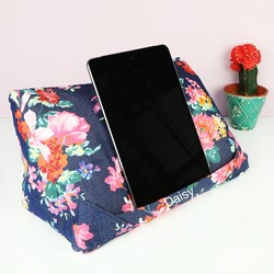 Personalised Coz-E-Reader Navy Floral Tablet Stand