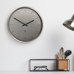Umbra Meta Silver Wall Clock