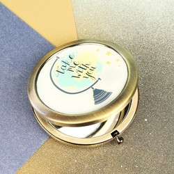 'Take Me With You' Globe Compact Mirror