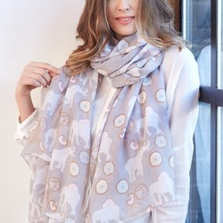 Elephants and Doughnuts Scarf