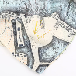Vintage London Map Personalised Scarf