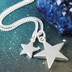 Long Double Star and Toggle Necklace