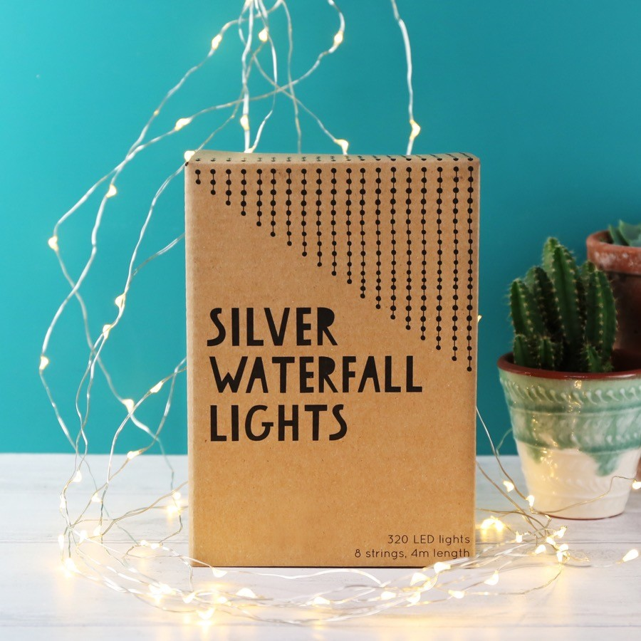 String Lights Mains Powered : Mains Powered Silver Wire Waterfall String Lights Lisa Angel