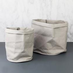Round Grey Storage Bag