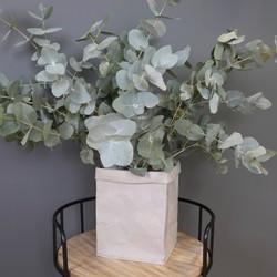 Square Grey Storage Bag