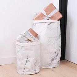 Round Marble Effect Storage Sack