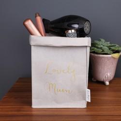 Personalised 'Lovely Mum' Square Storage Bag