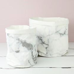Mini Round Marble Effect Storage Bag
