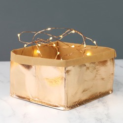 Small Square Rose Gold Storage Bag