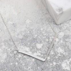 Diamante Chevron Necklace in Silver