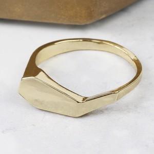 Gold Geometric Ring - M/L
