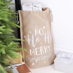 Festive 'Merry Proseccomas' Christmas Sack