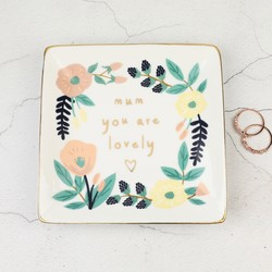 'Mum You are Lovely' Ceramic Ring Dish