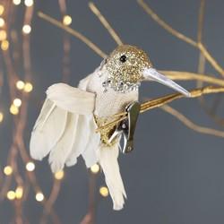Glittery Hummingbird Tree Clip