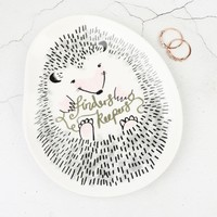 House of Disaster Over the Moon Hedgehog Ring Dish