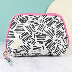 House of Disaster Paint Stroke Monochrome Make Up Bag