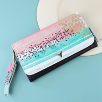 House of Disaster Paint Pattern Wallet