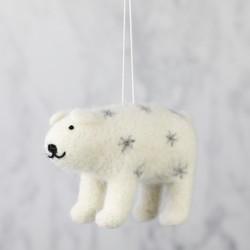Felt Polar Bear Ornament Hanging Decoration