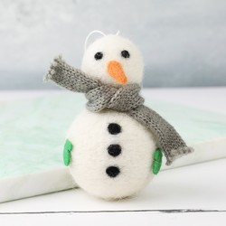Felt Snowman Hanging Decoration