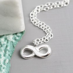 Delicate Sterling Silver Infinity Necklace