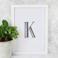 Decorative Letter A4 Print