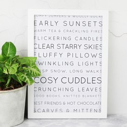 A4 Favourite Winter Things Print