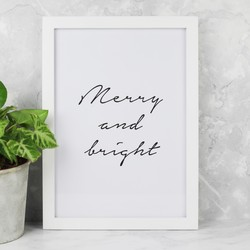 A4 'Merry and Bright' Print
