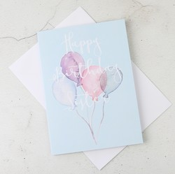 'Happy Birthday Sister' Birthday Balloons Greetings Card