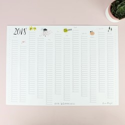 Illustrated 2018 Wall Planner