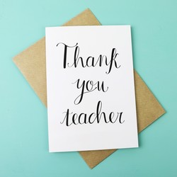 'Thank You, Teacher' Greetings Card