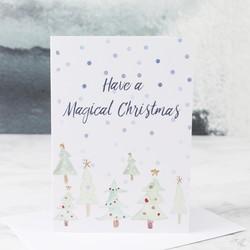 Watercolour 'Magical Christmas' Card